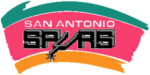 The Spurs' logo from 1989 to 2002.